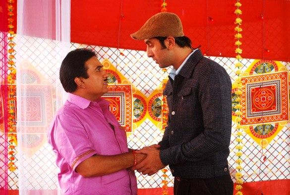 Ranbir With Dilip Joshi On Location of Taarak Mehta Ka Ooltah Chashmah
