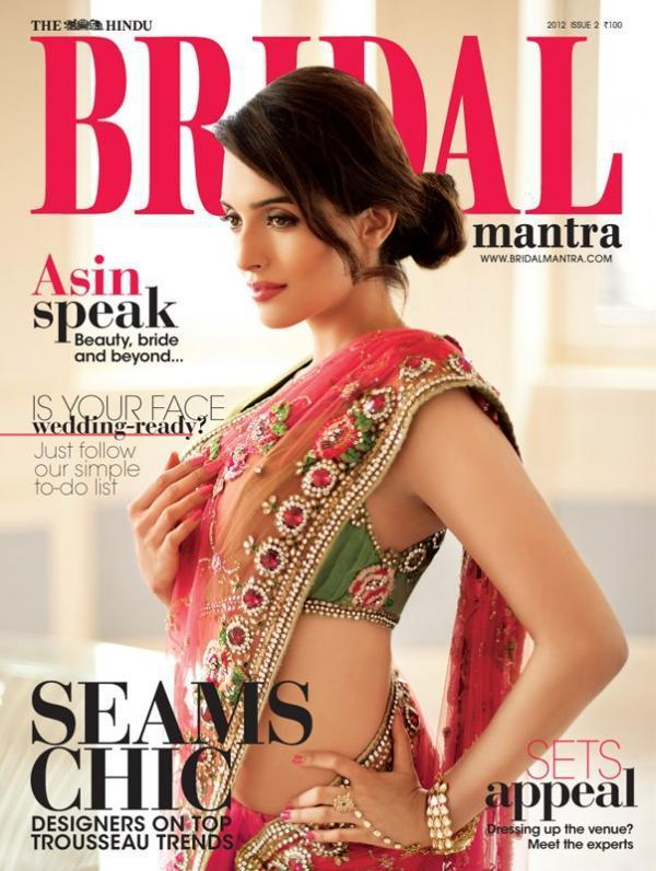 Asin On The Cover Of Hindu Bridal Mantra Magazine