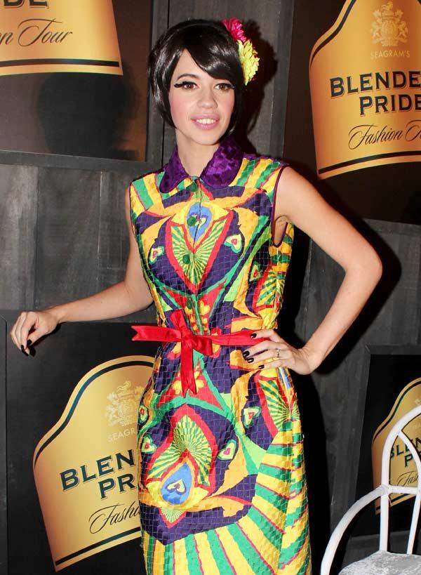 Kalki Koechlin in Nida Mahmood at Blenders Pride Fashion Tour 2012
