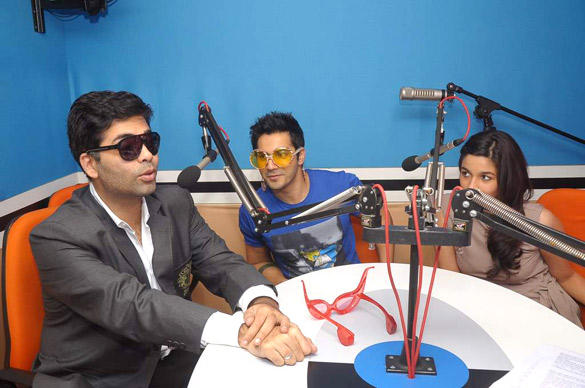 Karan,Alia and Varun Promote Student Of The Year at 93.5 Red FM