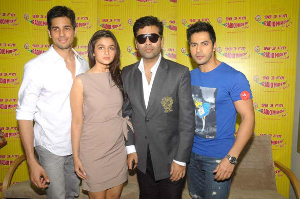 Siddharth,Alia,Karan and Varun Promote Student Of The Year at Radio Mirchi 98.3 FM
