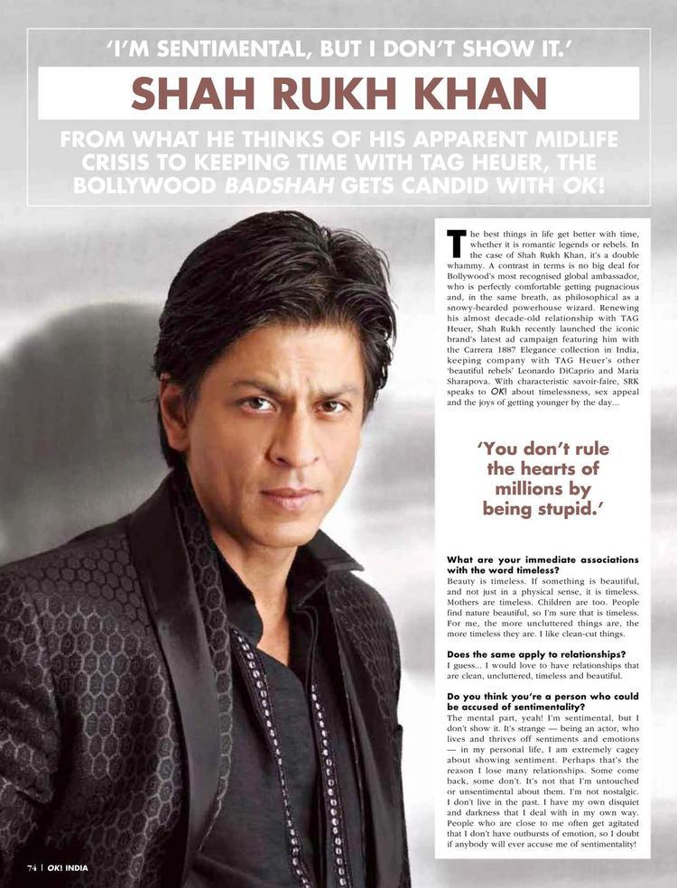 Shahrukh Khan On OK Magazine September 2012