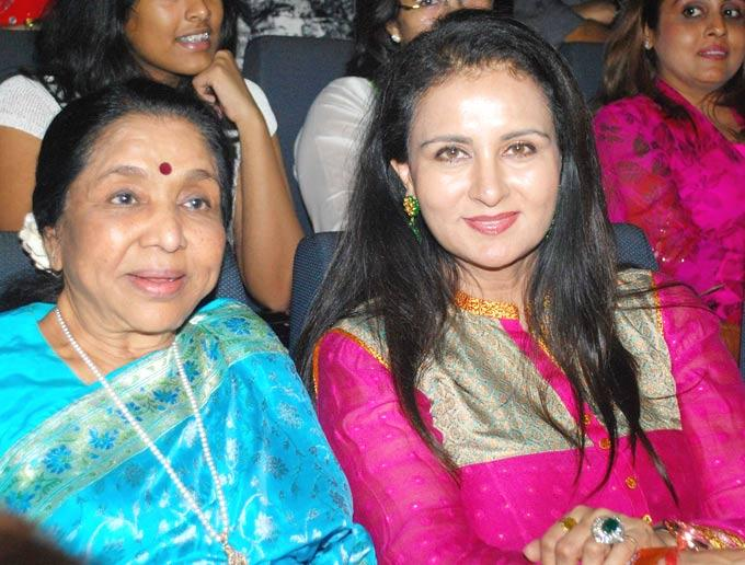 Asha and Poonam at First Look Launch Of Asha Bhosles Mai