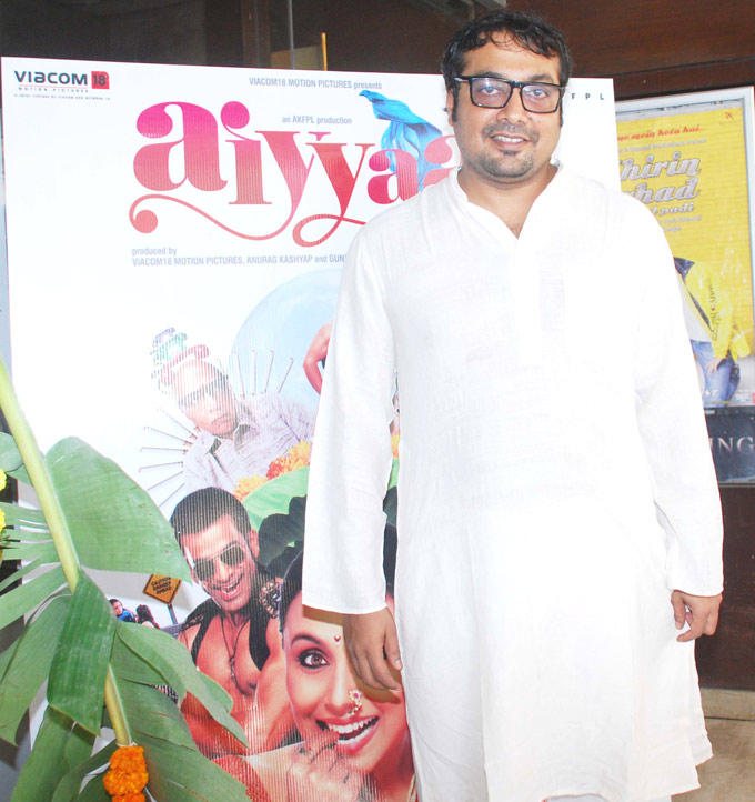 Anurag Kashyap During The First Look Launch Of Aiyyaa