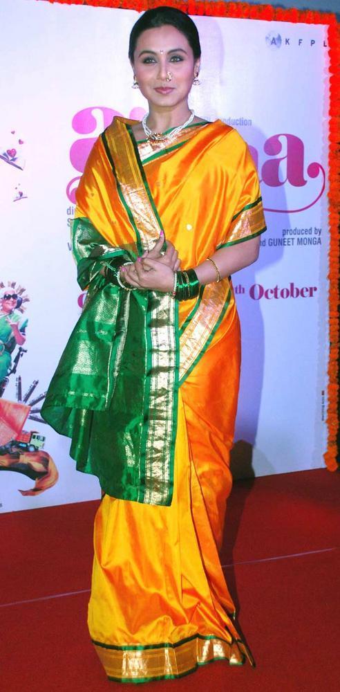 Rani Mukherjee In Marathi Mulgi Avatar For Aiyyaa
