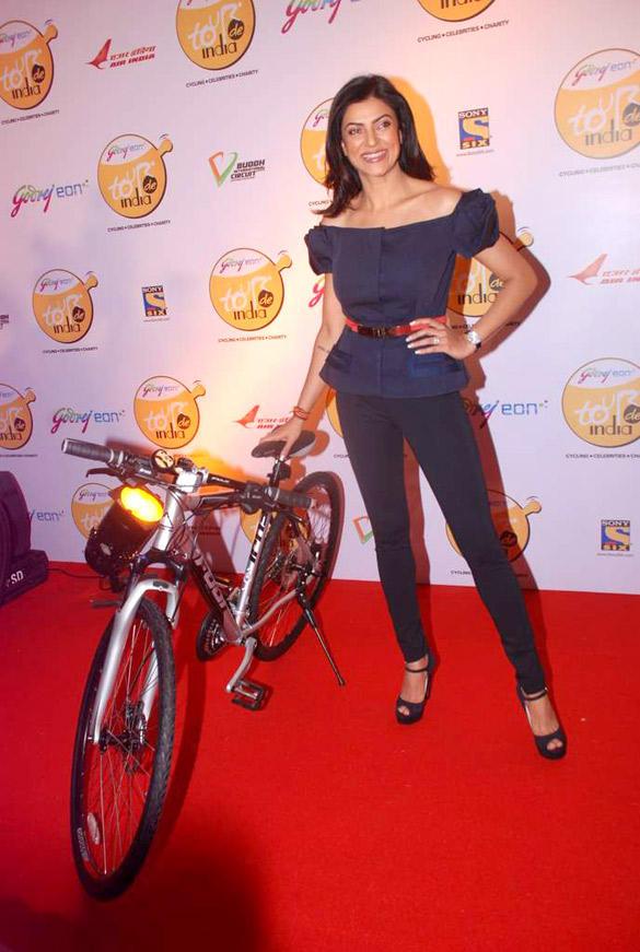 Sushmita Sen Launch at Godrej Eon Tour De India Cycling Event
