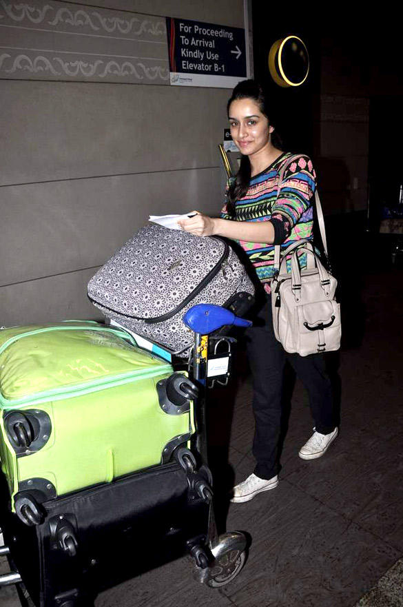 Shraddha Kapoor Wearing A Zig Zag Sweater at Airport