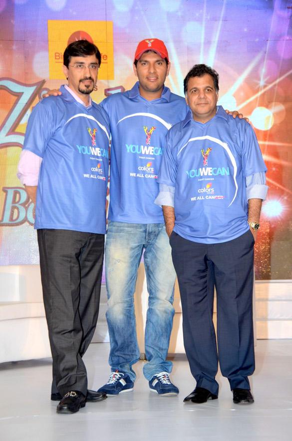 Yuvraj Singh at Cancer Zindagi Abhi Baki Hai Event
