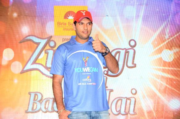 Yuvraj Singh at Cancer Zindagi Abhi Baki Hai Launch Event