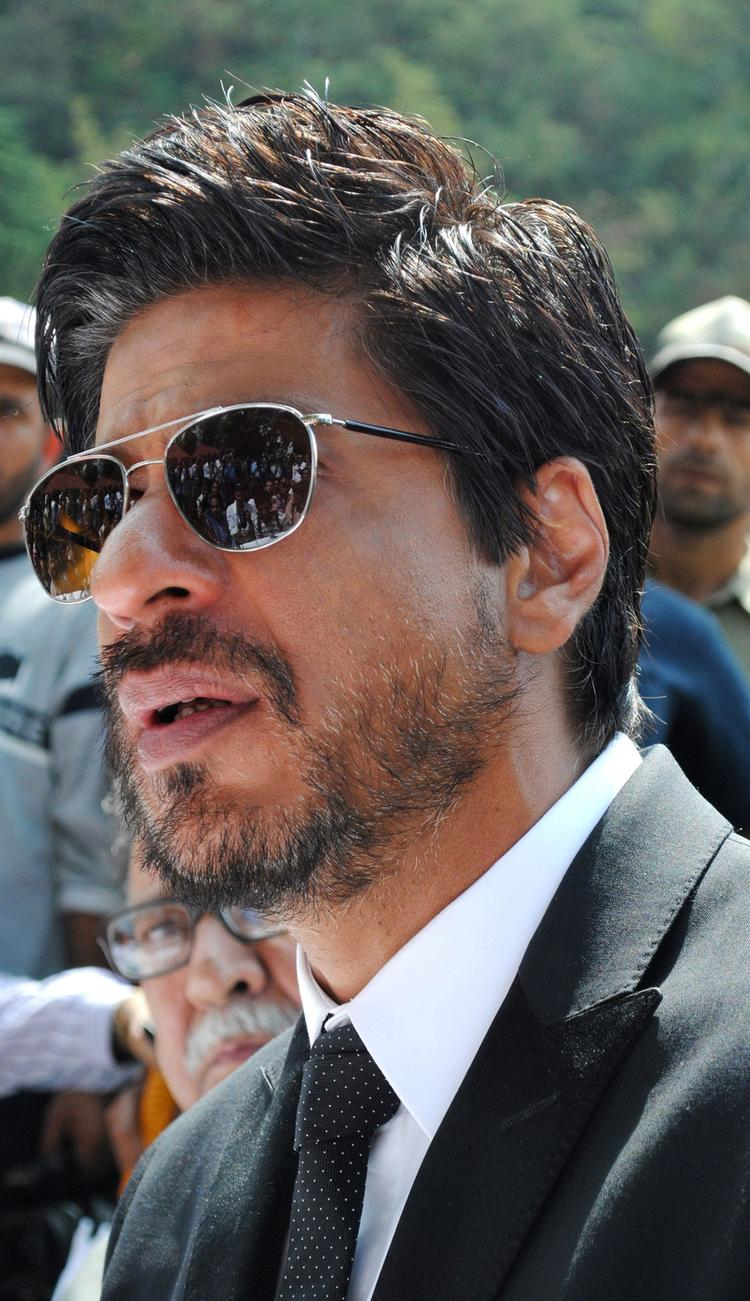SRK at Press Conference Held in Srinagar 2012
