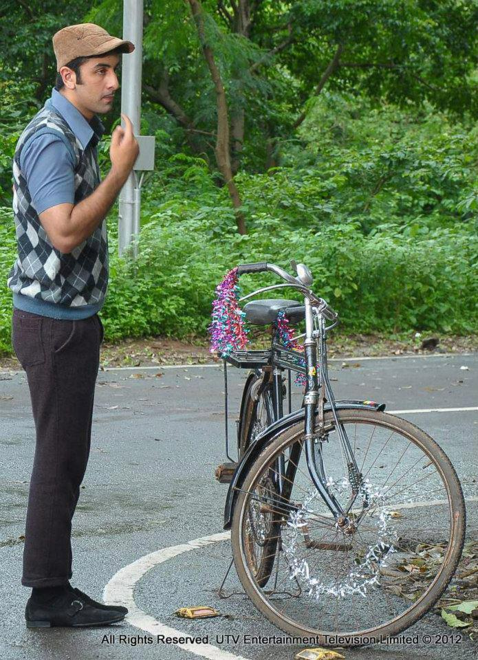 Ranbir Kapoor With Bicycle On The Sets Of TV Show Phir Subah Hogi