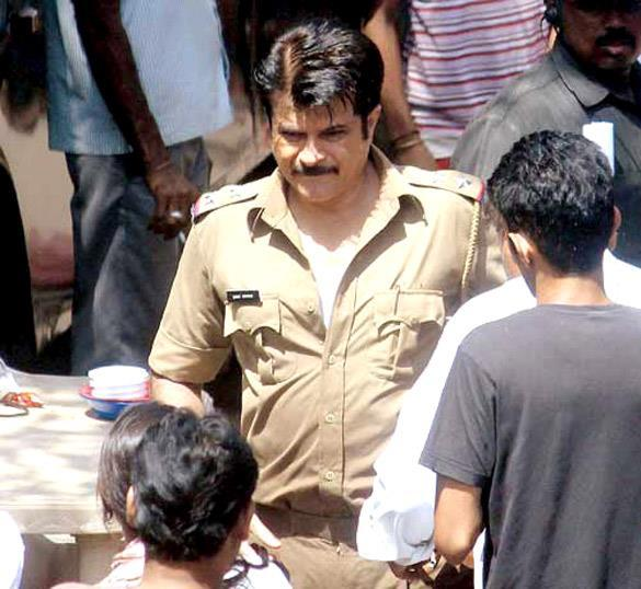 Anil Kapoor With Police Dress On The Sets Of Wadala