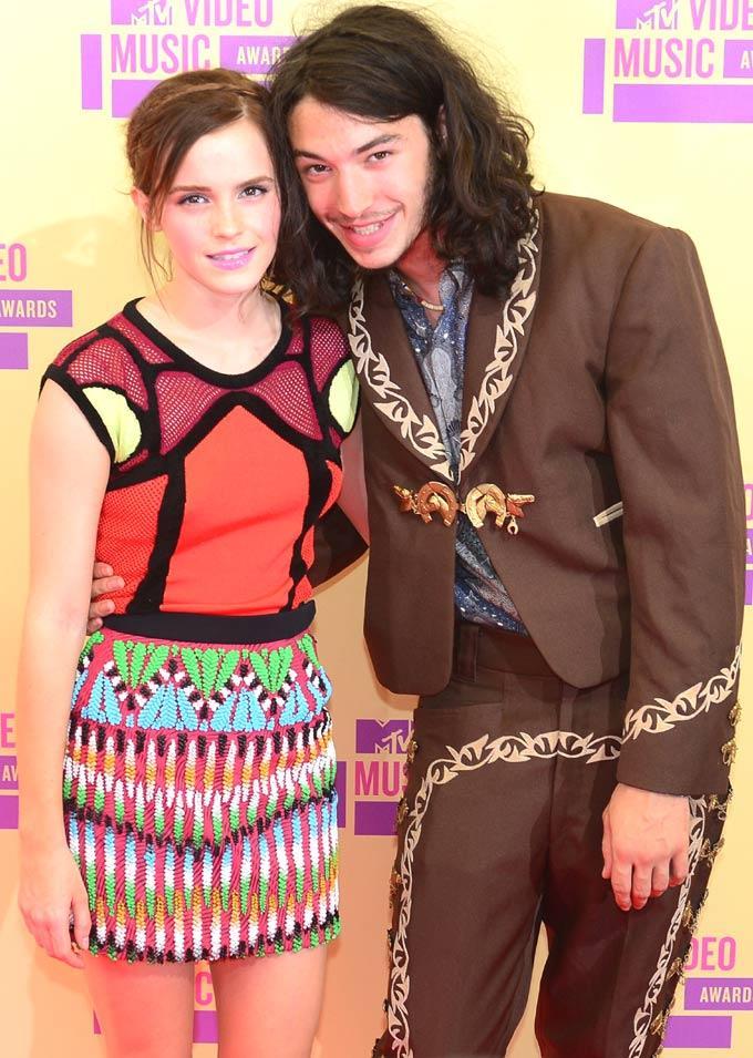 Emma Watson and Ezra Miller at Mtv Video Awards 2012