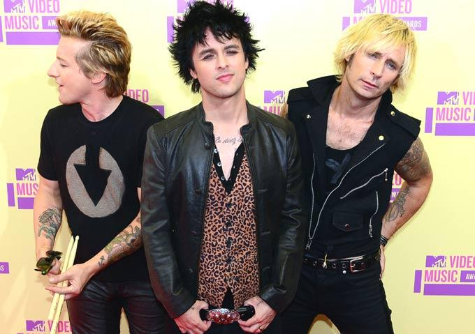 Green Day Arrives at Mtv Video Awards 2012