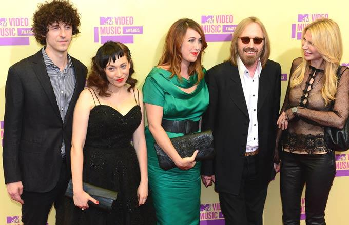 Tom Petty With His Family at Mtv Video Awards 2012