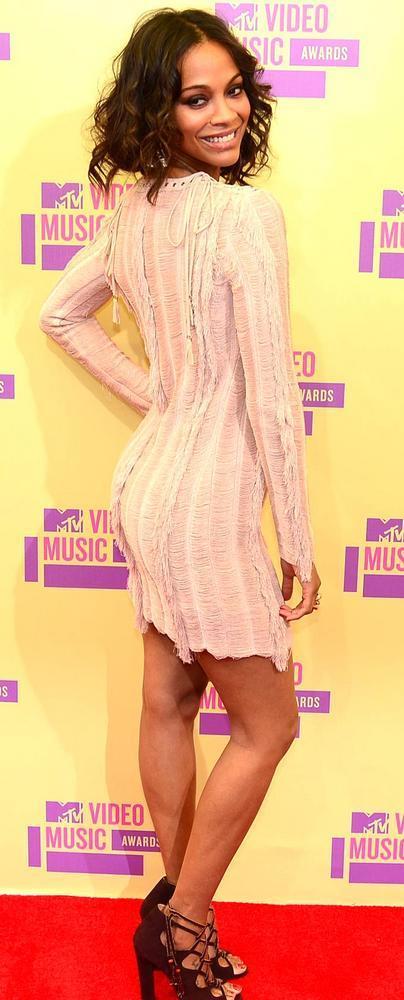Zoe Saldana at Mtv Video Awards 2012