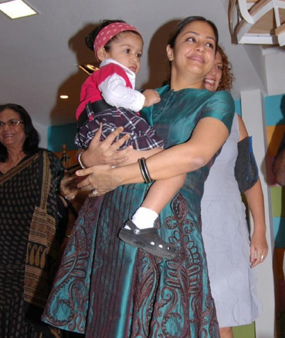 Jyothika and Her Daughter Diya at Vanilla Children Place Launch