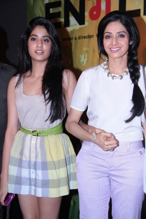 Sridevi and Her Daughter Jhanvi Kapoor Hot At The Launch of Theatrical Tailer of Movie English Vinglish