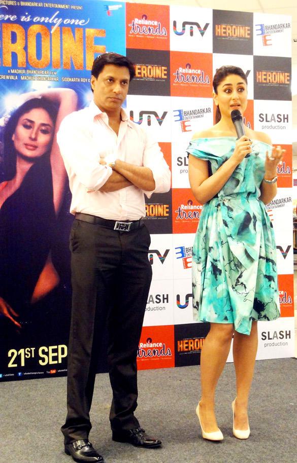 Kareena and Madhur During Main Heroine Hoon Song Launch Event