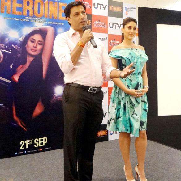 Madhur and Kareena at The Launch of Main Heroine Hoon Song