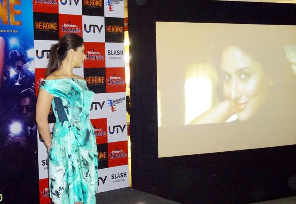 Sexy Actress Kareena Main Heroine Hoon Song Launch Event