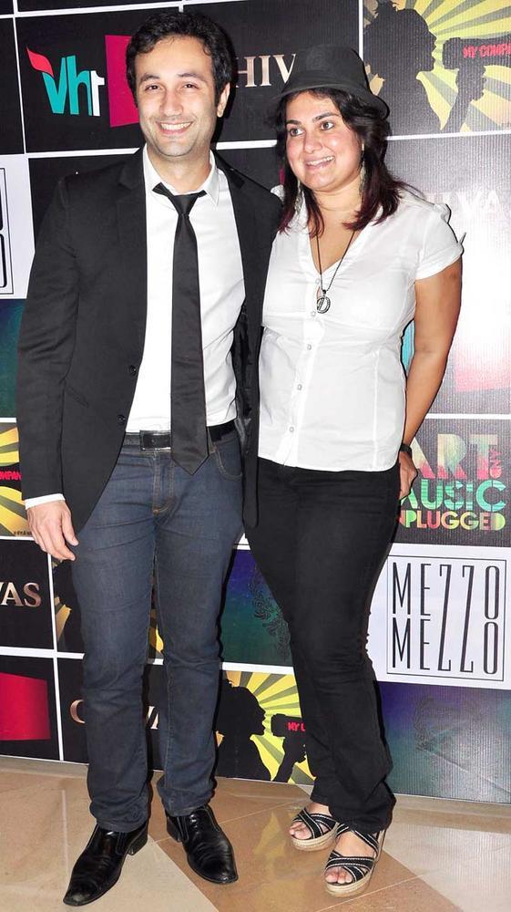 Aditya Hitkari and Divya Palat at Chivas Art And Music Unplugged Event