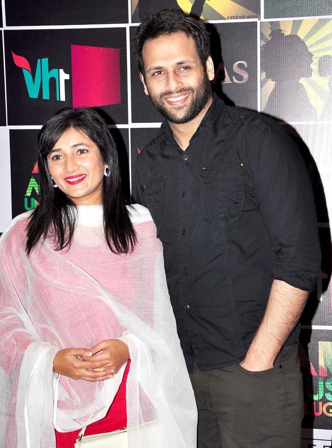 Bikram Saluja with wife Schauna at Chivas Art And Music Unplugged Event