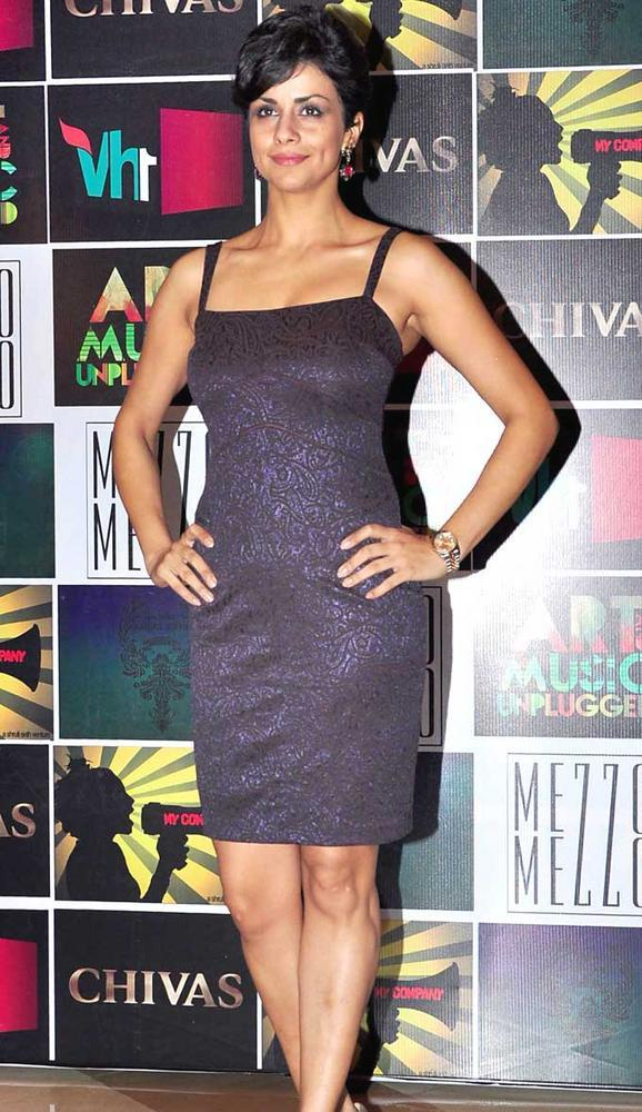 Gul Panag Pose During Chivas Art And Music Unplugged Event