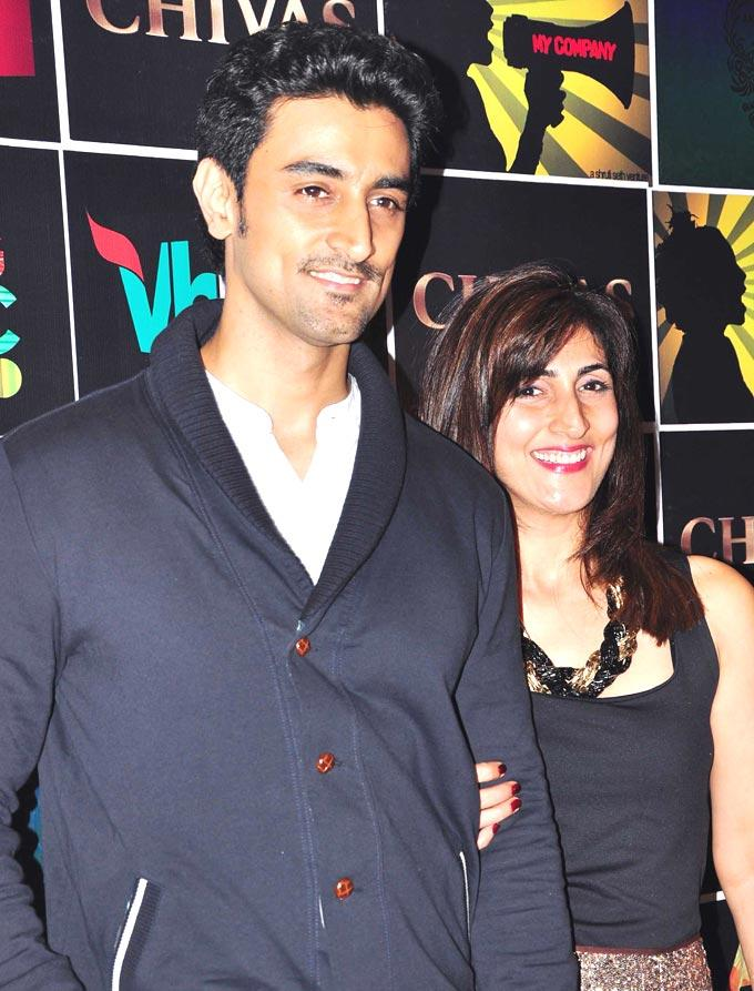 Kunal Kapoor With a Friend at Chivas Art And Music Unplugged Event