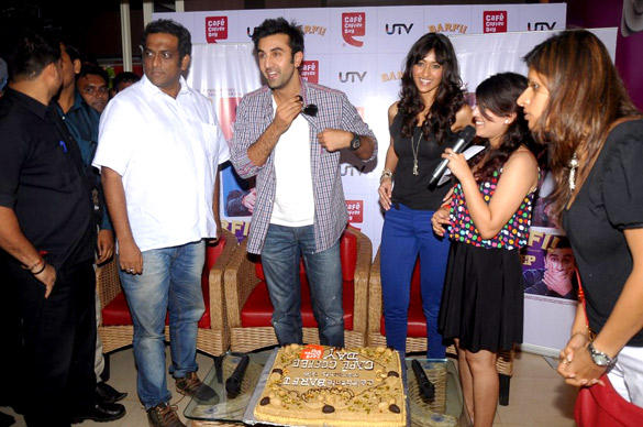 Ranbir Kapoor and Ileana at Cafe Coffee Day For Barfi Promotion