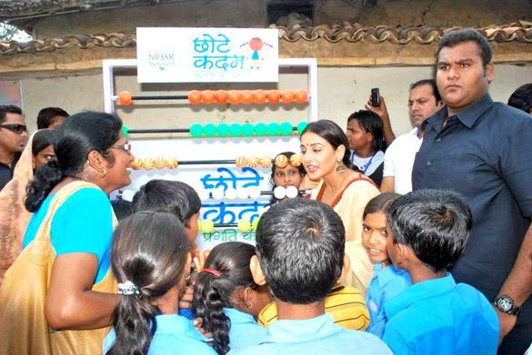 Vidya Balan at Chhotte Kadam Pragati Ki Aur Campaign