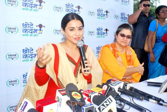 Vidya Balan Speaks During Chhotte Kadam Pragati Ki Aur Campaign