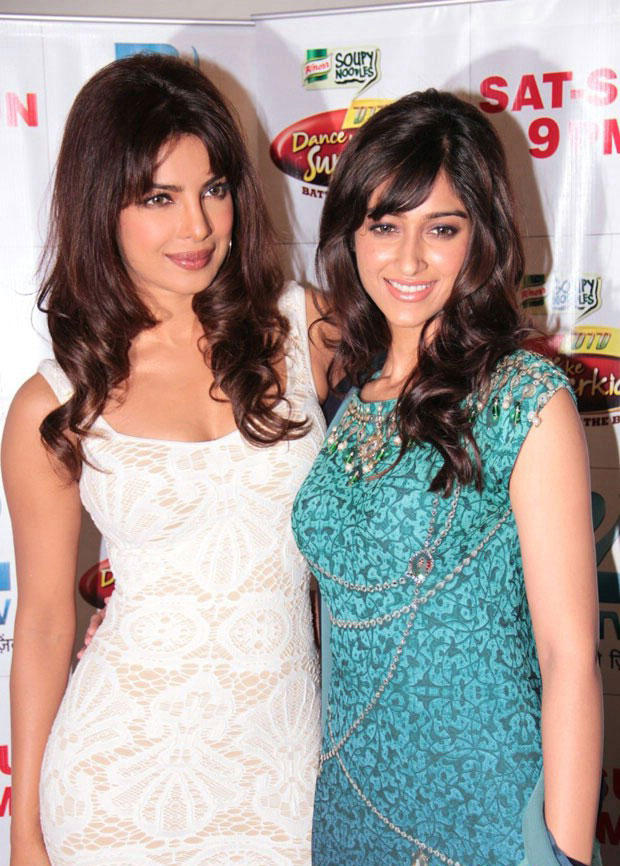 Ileana and Priyanka Pose On The Sets Of DID Dance Ke Superkids