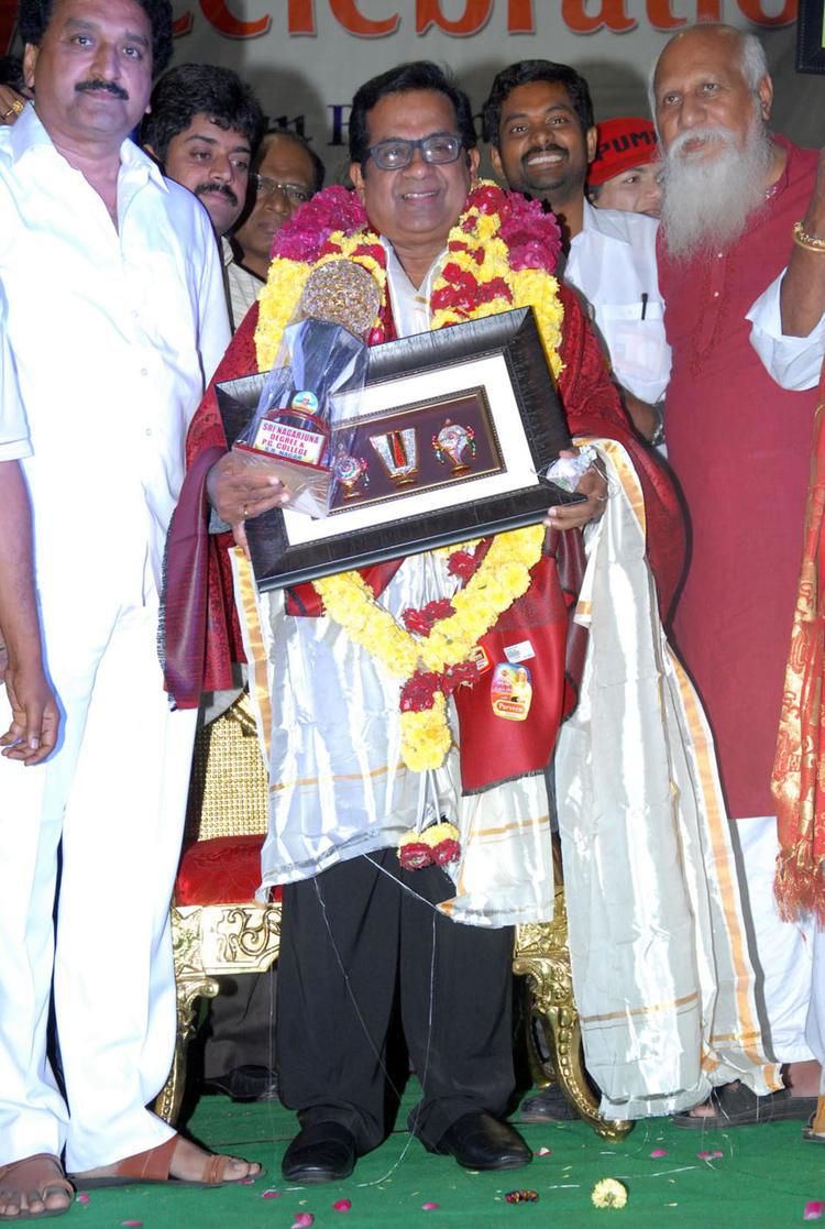 Actor Brahmanandam Sanmanam Photo at Sri Nagarjuna Degree and PG Colleges