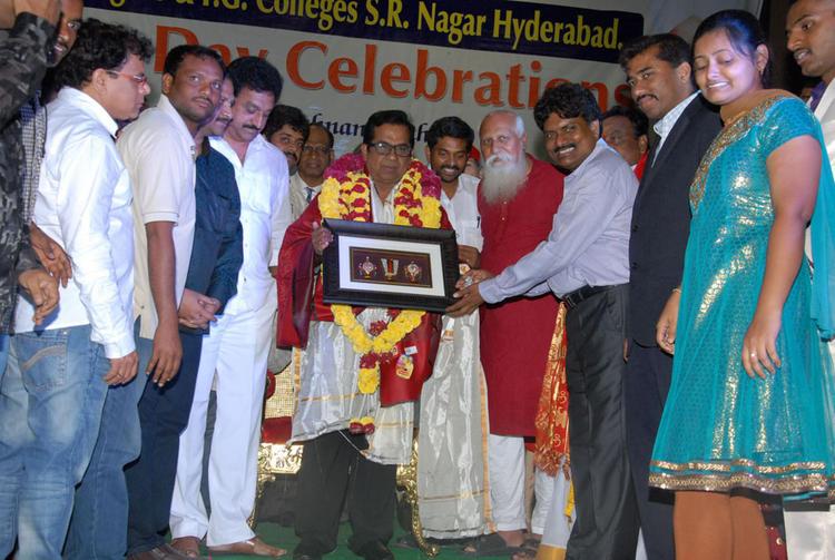 Brahmanandam Felicitation Photos at Teachers Day Celebrations