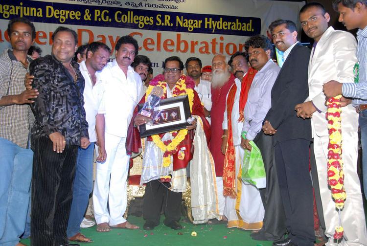 Brahmanandam At Sri Nagarjuna Degree College In Hyderabad For Teachers Day Celebration