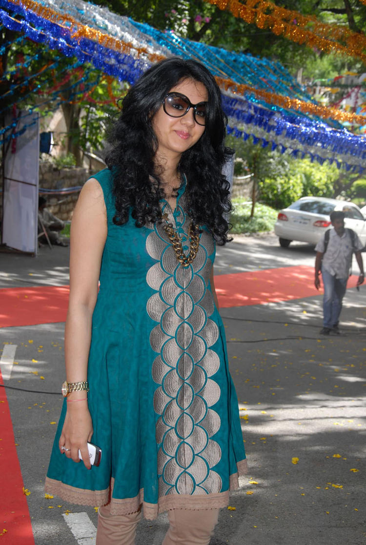Kamna Jethmalani at Band Balu Movie Launch Event