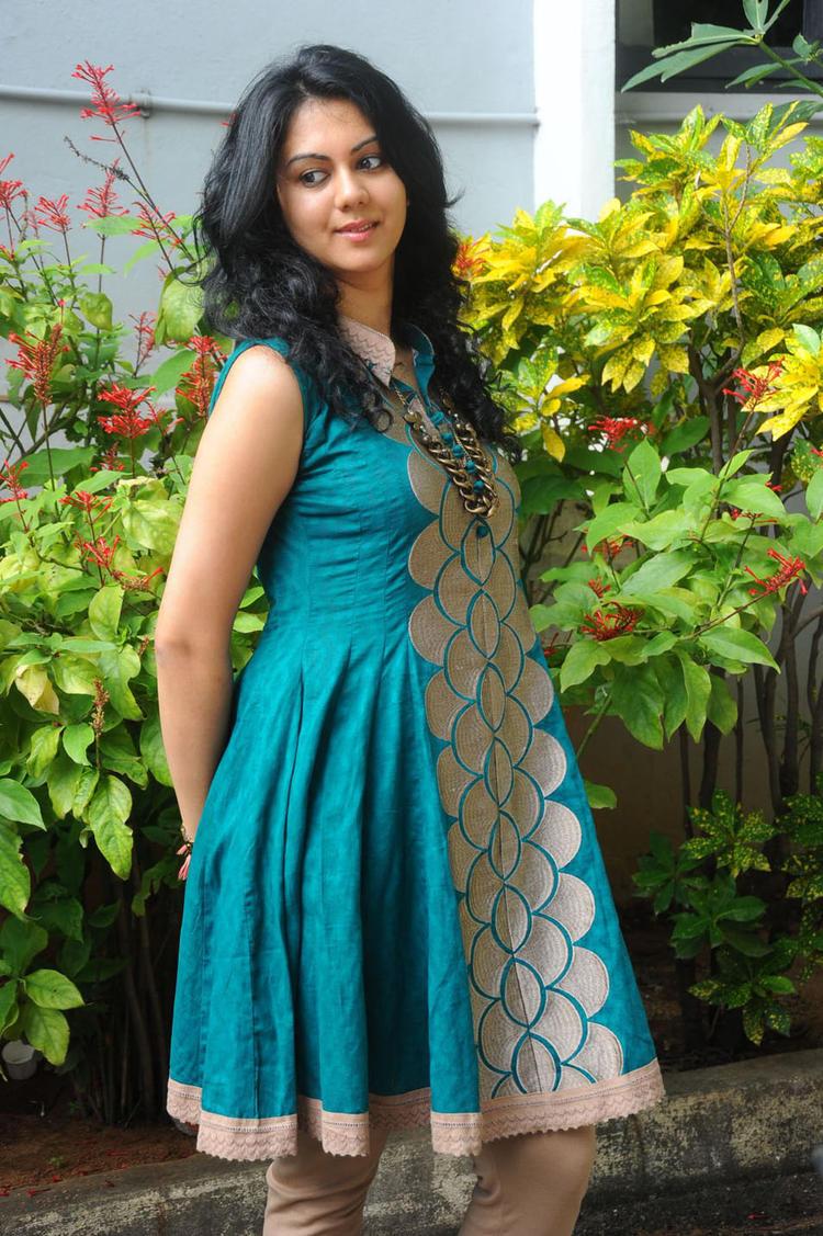 Kamna Jethmalani Photo Shoot In Chudidhar at Band Balu Movie Opening Event