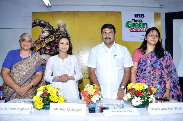 Bollywood Actress Rani At The Times Green Ganesha Event in Mumbai