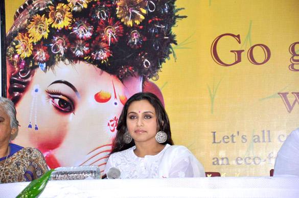 Rani Mukherjee Snapped At The Times Green Ganesha Event in Mumbai