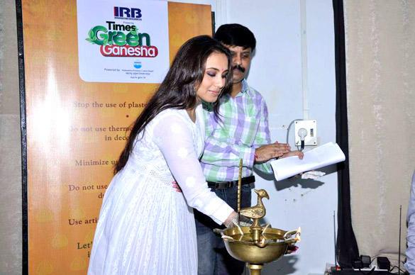 Rani Mukherjee At The Times Green Ganesha Event in Mumbai
