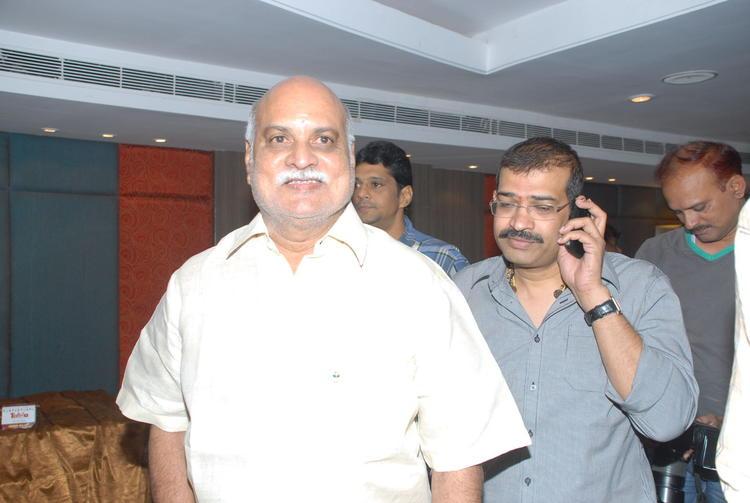 K.Raghavendra Rao and Mahesh Reddy Spotted at Shirdi Sai Movie Press Meet
