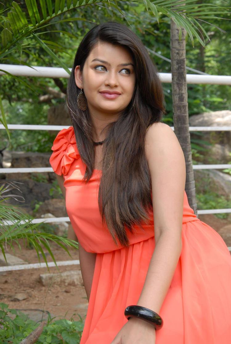 Chandini Sexy Pose at Devadas Style Marchadu Launch