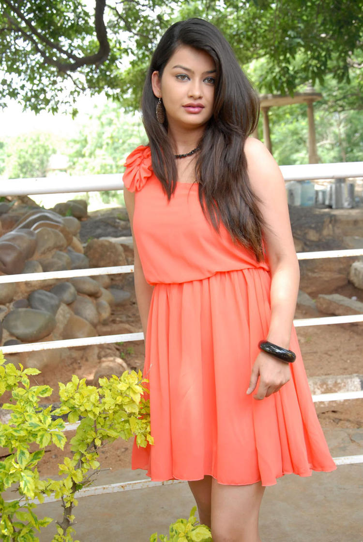 Chandini Short Dress at Devadas Style Marchadu Launch
