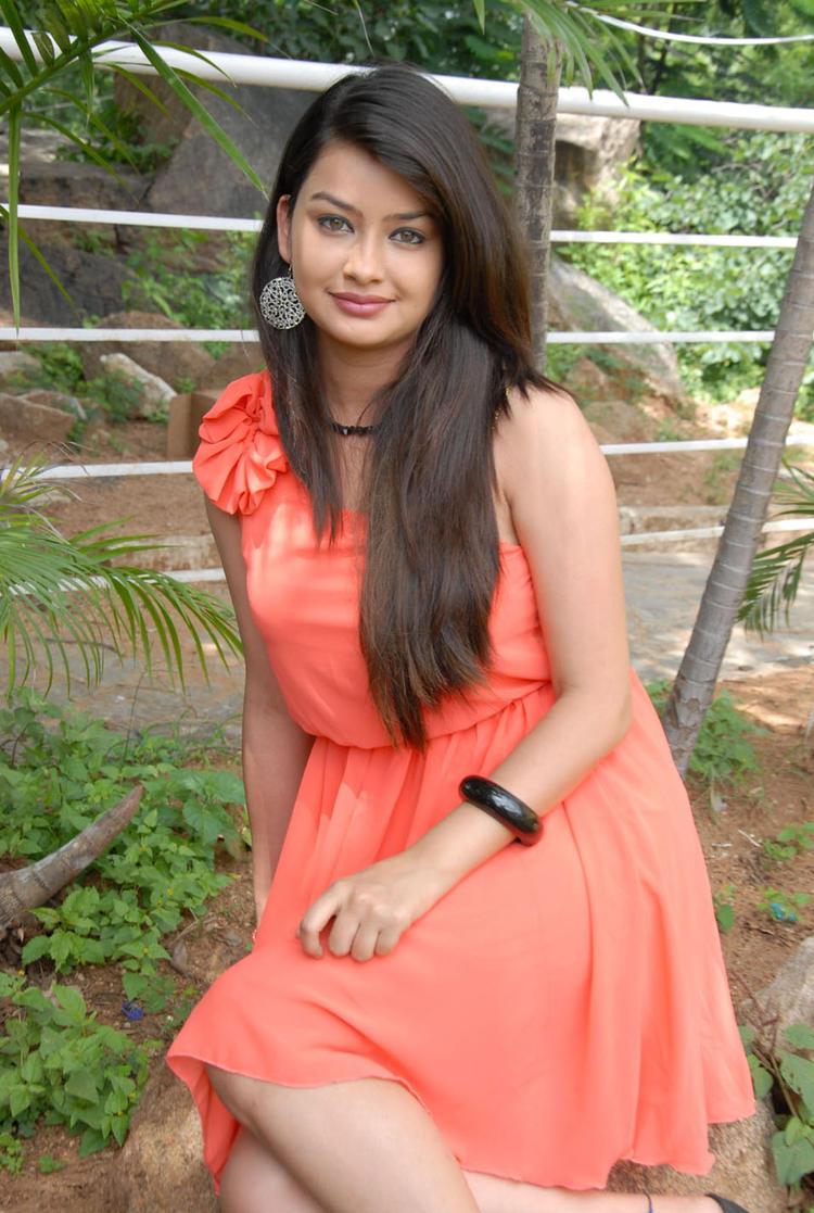 Chandini Short Dress Hot Photo Shoot at Devadas Style Marchadu Launch