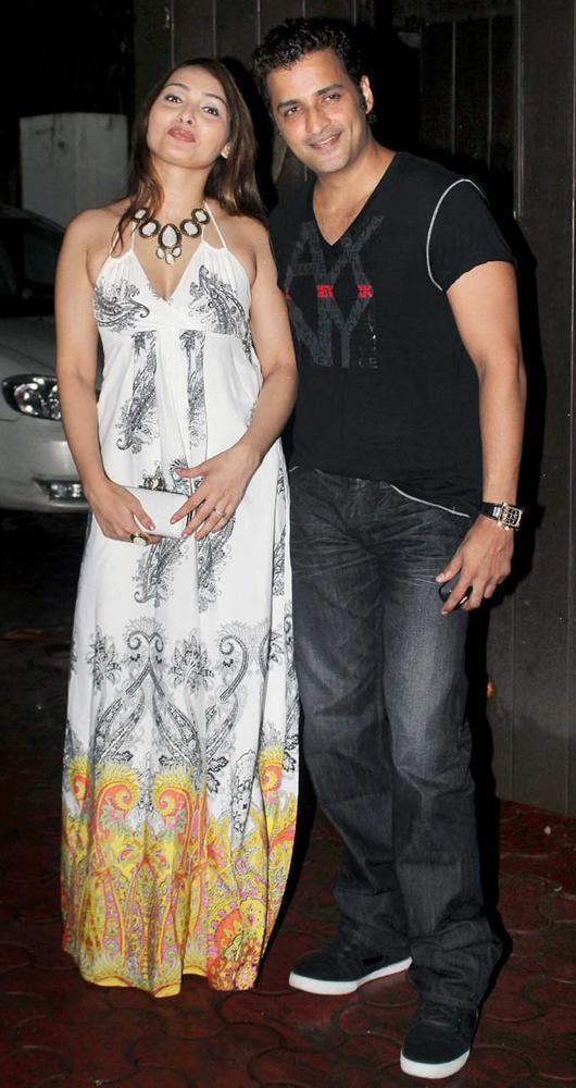 Ganesh Hegde and Wife Sunayna at Raj Kundras Birthday Bash