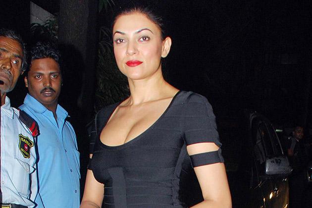 Gorgeous Sushmita Sen Snapped at Raj Kundras Birthday Bash