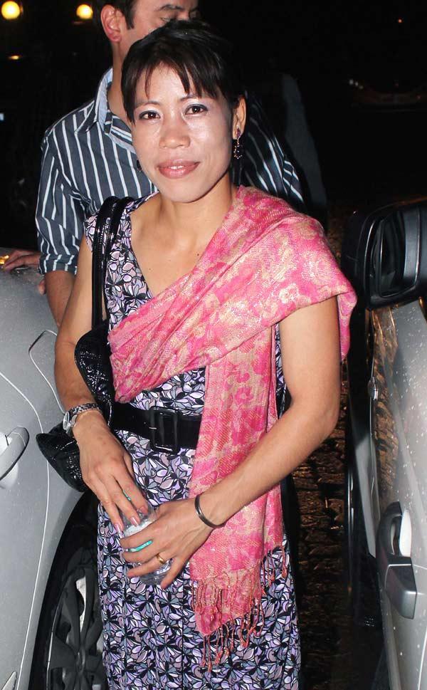 Mary Kom Snapped at Raj Kundras Birthday Bash
