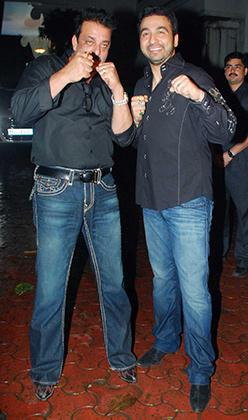Raj Kundra Celebrated His 37th Birthday With Close Friend Sanjay Dutt