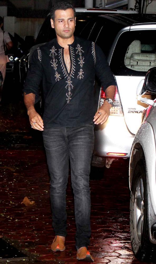 Rohit Roy at Raj Kundras Birthday Bash Hosted by Shilpa Shetty